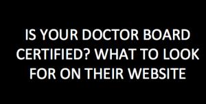 doctor's credentials