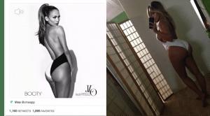JLo Kim Kardashian comparison