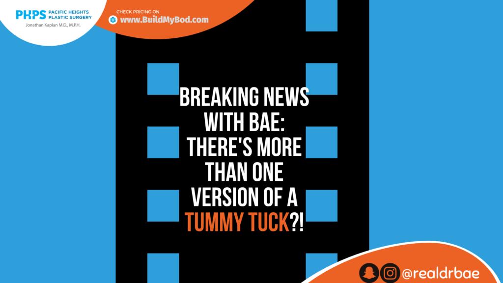 mini tummy tuck vs full tummy tuck